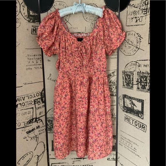 J CREW Rayon Floral Mini-dress